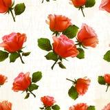Vector de la flor color de rosa del modelo viejo Stock de ilustración