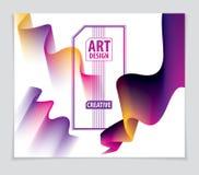 Vector de la forma abstracta moderna, pendiente de la forma 3d flor 3d sh Ilustración del Vector
