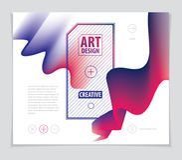 Vector de la forma abstracta moderna, pendiente de la forma 3d flor 3d sh Libre Illustration