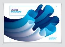 Vector de la forma abstracta moderna, pendiente de la forma de la flor 3d 3d la Florida Ilustración del Vector