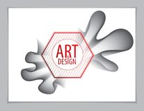 Vector de la forma abstracta moderna, pendiente de la forma de la flor 3d 3d la Florida Stock de ilustración