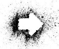 Vector de la frontera de la salpicadura de la flecha Imagen de archivo libre de regalías