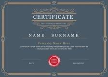 Vector de la frontera del marco del logro del certificado elegante Imagen de archivo libre de regalías