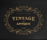 Vector de la frontera de la etiqueta de la antigüedad del marco del vintage del diseño ilustración del vector