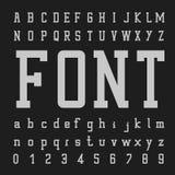 Vector de la fuente, tipo letras y números imágenes de archivo libres de regalías