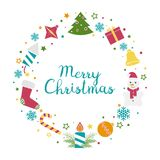 Vector de la guirnalda de la Navidad Fotografía de archivo