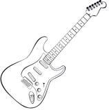 Vector de la guitarra de la roca Imagen de archivo libre de regalías