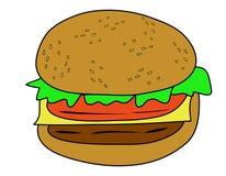 Vector de la hamburguesa Foto de archivo