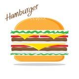 Vector de la hamburguesa Fotografía de archivo libre de regalías
