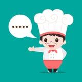Vector de la historieta del cocinero fotografía de archivo libre de regalías