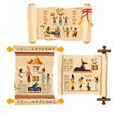 Vector de la historieta de la voluta del papiro de Egipto antiguo ilustración del vector
