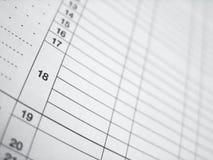 Vector de la hoja de balance (cálculo del impuesto) Foto de archivo libre de regalías