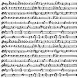 Vector de la hoja de la nota de la música   Foto de archivo libre de regalías