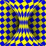 Vector de la ilusión Arte óptico 3d Efecto óptico dinámico de la rotación Ilusión del remolino Fondo mágico geométrico Imágenes de archivo libres de regalías