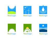 Vector de la insignia de la compañía de la energía limpia Imagen de archivo libre de regalías