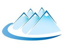 Vector de la insignia de las montañas stock de ilustración