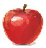 Vector de la manzana roja. Imágenes de archivo libres de regalías