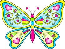 Vector de la mariposa Imagen de archivo libre de regalías