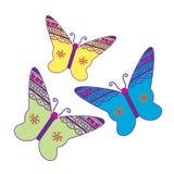 Vector de la mariposa Imagen de archivo