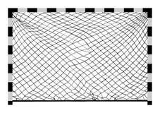 Vector de la meta del fútbol Construcción del vector del balonmano fotos de archivo