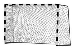 Vector de la meta del fútbol Construcción del vector del balonmano con la red Meta de Footsal Pieza del campo de deporte ilustración del vector