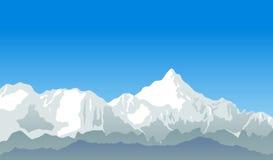 Vector de la montaña Imagenes de archivo
