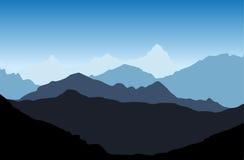 Vector de la montaña Imagen de archivo libre de regalías