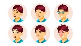Vector de la mujer de Avatar del negocio Retrato del usuario Oficinista japonés Ejemplo plano aislado de la historieta libre illustration