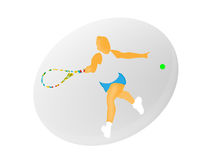 Vector de la mujer del tenis Foto de archivo