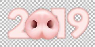 vector 2019 de la nariz del cerdo libre illustration