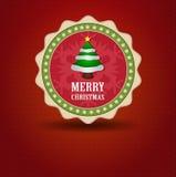 Vector de la Navidad de la etiqueta Fotos de archivo