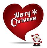 Vector de la Navidad del bordado del corazón Imagenes de archivo
