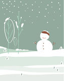 Vector de la nieve del invierno Fotos de archivo
