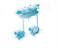Vector y chapoteo de la nota azul Foto de archivo libre de regalías