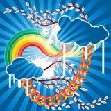 Vector de la nube del resorte Foto de archivo libre de regalías