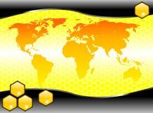 Vector de la paginación del mundo del hexágono Fotos de archivo libres de regalías