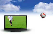 Vector de la pantalla ancha TV Fotografía de archivo