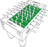 Vector de la perspectiva del juego del balompié y de fútbol del vector Imagen de archivo