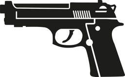Vector de la pistola del arma stock de ilustración