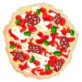 Vector de la pizza Imágenes de archivo libres de regalías