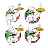 Vector de la pizza del cocinero stock de ilustración