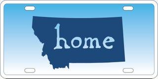 Vector de la placa del estado de Montana Imágenes de archivo libres de regalías
