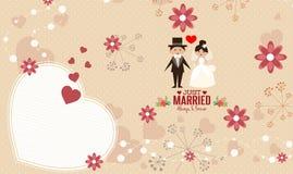 Vector de la plantilla de la tarjeta de la invitación de la boda Fotos de archivo