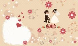 Vector de la plantilla de la tarjeta de la invitación de la boda Fotografía de archivo