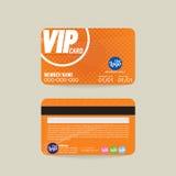 Vector de la plantilla de la tarjeta del miembro de Front And Back VIP ilustración del vector