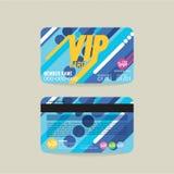 Vector de la plantilla de la tarjeta del miembro de Front And Back VIP stock de ilustración