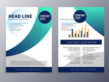 Vector de la plantilla del diseño del folleto del negocio y de la tecnología Imágenes de archivo libres de regalías