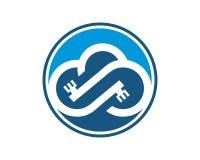 Vector de la plantilla del logotipo de la nube Fotos de archivo