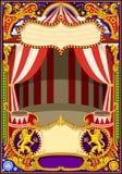 Vector de la plantilla de la tarjeta del circo libre illustration