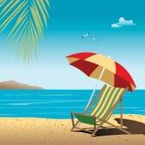 Vector de la playa Imágenes de archivo libres de regalías